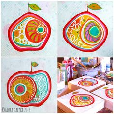 inspiration, invitation and the art of Elise Morris - Laura TWO Tina Fall Art Projects, Projects For Kids, Crafts For Kids, Arts And Crafts, Art Journal Pages, Art Journaling, Shape Art, Autumn Art, Mixed Media Painting
