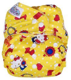 Papoose Cloth Nappy Hello Kitty