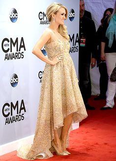 Pregnant Carrie Underwood sparkles at the CMA Awards on Nov. 5 in Nashville.