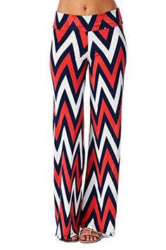 Women's Aztec Chevron Tribal Print High Waist Wide Leg Long Palazzo Pants for only $17.95 You save: $25.00 (58%)