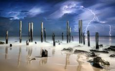 After The Thunder A storm at port Willunga, South Australia, captured  by Shannon Rogers