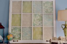 Leslie I have a window kinda like this....thinking maybe blocks of fabric to use for decor???
