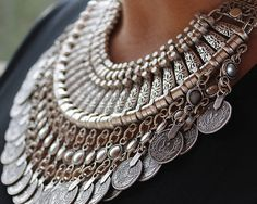 Statement necklace Ethnic jewelry gypsy by ChickpeaDesignStudio, $59.00