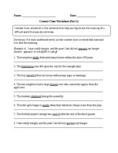 math worksheet : this a multiple choice assessment for context clues the  : Multiple Choice Context Clues Worksheets