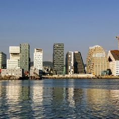Oslo, Bjørvika, buildings by A-lab, MVRDV, and MAD architecture