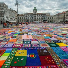 Italy has just taken over South Africa's listing in the Guinness World Book of Records for the World's largest crochet blanket. Put together in the city of