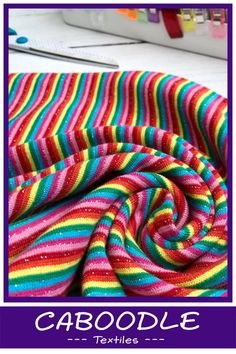 a7cbc73e983 Stunning rainbow ribbing used to give a punch of colour to cotton lycra  jersey clothing.