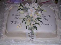 wedding open book cake - Google Search