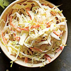 Western North Carolina Slaw | This slaw is cool, creamy, and delicious. | #Recipes | SouthernLiving.com