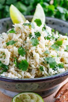 Cilantro Lime Cauliflower Rice (Paleo/AIP/Whole30)