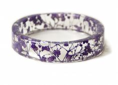Lovely Jewelry Made With Clear Resin Filled With Real Flowers, Leaves - DesignTAXI.com