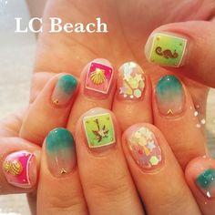 #lcbeach #shibuyanails #summernails #beachnails #starfish #framingo #framingonail #clearnails #candynails #shellnails #クリアネイル #サマーネイル #フラミンゴネイル #ヒトデネイル #夏ネイル #シロップネイル #エルシービーチ #パイナップル #タツノオトシゴ #タツノオトシゴネイル #pineapple #seahouse