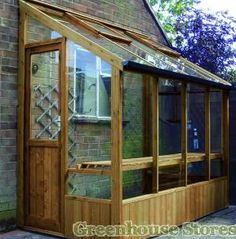 Wooden Lean to Greenhouses - Greenhouse Stores