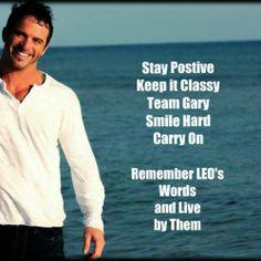 Gary Taylor and his motto