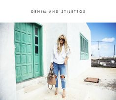 Denim and stilettos (Fanny Lyckman) Swag Outfits, Stylish Outfits, Cool Outfits, All About Fashion, Passion For Fashion, Fanny Lyckman, Denim Fashion, Fashion Outfits, Fashion 2014