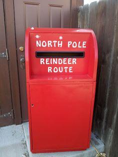 Anyone can post a letter to Santa in the Currier Inn mailbox.  I manged to get an old US Mail one.  I removed the white lettering and logo.  and painted several coats of the brightest and reddest red I could find.  I bought the lettering and stuck it on.  It goes out on the Saturday after Thanksgiving and I retrieve just after Christmas.   I answer as many letters as I can....sadly not everyone puts a return address.  I (Santa)  actually gets the occasional Thank you too!