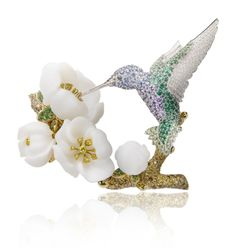 Van Cleef & Arpels - Berylline Colibri clip, California rêverie collection