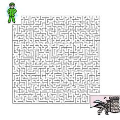 Help the boy find his way to the Great Wall of China -- maze
