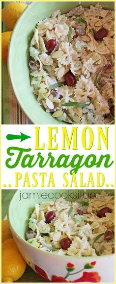 Lemon Tarragon Pasta Salad from Jamie Cooks It Up!