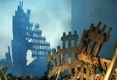 North and South Towers of World Trade Center in NYC, designed by Minuro Yamasaki…