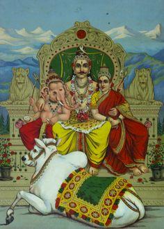 An varied assortment of oleographic prints (Lithographs), Raja Ravi Varma Press, India, c. Hindu Deities, Hinduism, Lord Shiva Statue, Krishna Leela, Lord Mahadev, Wedding Couple Poses, India Art, Shiva Shakti, Goddess Lakshmi