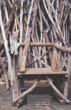 woon inspiratie takken Starling, Outdoor Furniture, Outdoor Decor, Tree Branches, Driftwood, Making Out, Explore, Nature, Diy