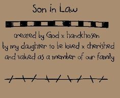 Funny Son In Law Quotes | ... and Sayings - Son In Law Stitchery E Pattern (Powered by CubeCart: