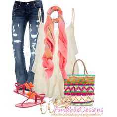 """Casual Spring Outfit"" by amabiledesigns on Polyvore"