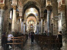 La chiesa di Santa Maria dell'Ammiraglio, sede della parrocchia di San Nicolò dei Greci, detta della Martorana Palermo, Sicily, Italy
