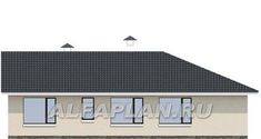 """🏠 """"Яркий мир"""" - одноэтажный дом с высокой гостиной и просторной террасой: цены, планировка, фото. Купить готовый проект House Plans, Floor Plans, Layout, Homes, House Design, Flooring, How To Plan, Architecture, House Styles"""