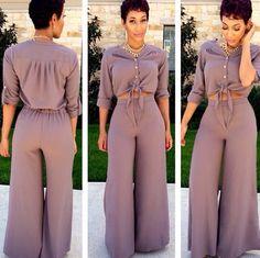 Crop top and palazzo pants Pinterest: @JENNY
