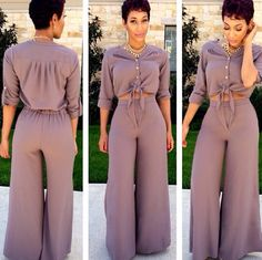 Crop top and palazzo pants Pinterest: @JENNY