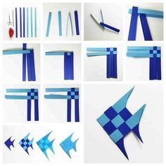 Origami Fisch # Falten # Papier # Meeresbewohner # Falttechnik # Fisch - www. Origami Design, 3d Origami, Origami Simple, Origami Yoda, Origami Star Box, Origami Dragon, Origami Fish, Origami Folding, Paper Crafts Origami