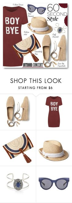 """""""Outdoor Concert: 60 Second Style"""" by brendariley-1 ❤ liked on Polyvore featuring Gap, Forever 21, Le Specs Luxe, 60secondstyle and outdoorconcerts"""