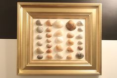 Dwellings By DeVore: Shell Art   $3 thrift store frame repainted and shells collected at the beach