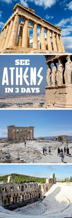 3 Days in Athens - Here are the best things to do in Athens Greece in 3 days. Find out about the best places to see and what to do plus important travel tips for Athens. I Athens itinerary I Best Athens itinerary I 3 days in Athens Travel Europe Travel Tips, Places To Travel, Places To See, Travel Packing, Budget Travel, Usa Travel, Solo Travel, Greece Destinations, Travel Destinations