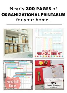 A HUGE collection of household organization printables - my favorites are the food labels, envelope organization system, printable grocery lists, and (of course) the family management binder stuff. by PearForTheTeacher