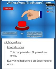 Everything happened on Supernatural once.
