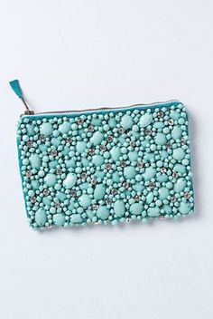 jeweled pouch :: love the aqua color!