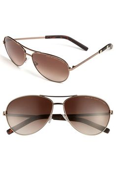 MARC BY MARC JACOBS 59mm Aviator Sunglasses available at #Nordstrom