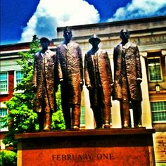 North Carolina A&T State University in Greensboro, NC.  The Fabulous Four.