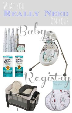 From an experienced mom, what you really need to register for when having a baby!