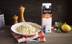 A creamy, lemony, lactose free Alfredo pasta dish that's healthy but feels decadent.