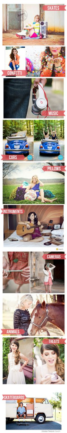 I always say bring anything you like to make personality pop in your portraits....these are some FUN FUN FUN ideas for props for a Senior Shoot or any other. --- Wichita Photographer RedRock Photography ---