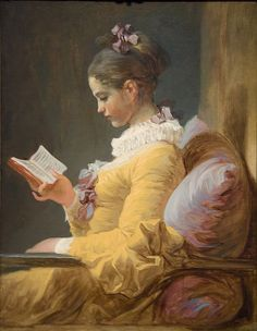 ✯ A Young Girl Reading .. Artist Jean-Honoré Fragonard ..ca. 1776..✯