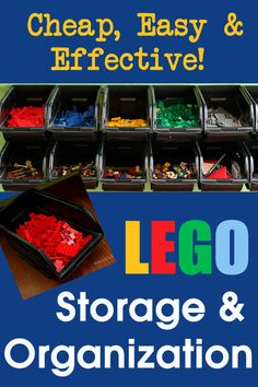 Cheap, easy and effective LEGO storage and organization! Such a great concept that really works!