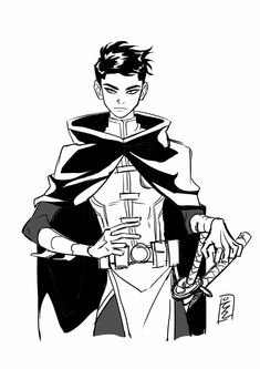 Damian Wayne || Double Katana Swords || Robin