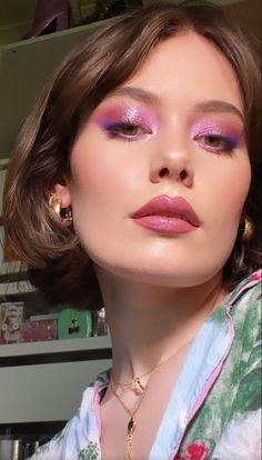 Edgy Makeup, Makeup Eye Looks, Creative Makeup Looks, Eye Makeup Art, Cute Makeup, Pretty Makeup, Skin Makeup, Makeup Inspo, Makeup Inspiration