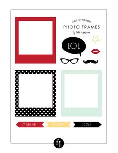 Free Printable Photo Frames | FelicityJane.com