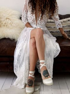 Spell Bride x Forever soles. Gypsy Queen Espadrille Wedges Forever Soles. Use code FSPINTEREST to get 5% off all orders at foreversoles.com. Wedding shoes, Spell Byron bay, Beach wedding shoes.